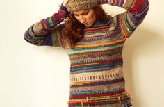 Handmade striped women sweater by TASSSHA on Etsy