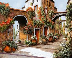Landscape Painting - Profumi Di Paese by Guido Borelli