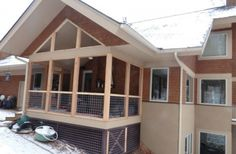 6 x 6 posts were used on this screen porch to allow a larger opening.