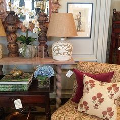 """""""#layers // Visit us on Franklin Street in downtown Newport to see the latest additions to the shop. #lamps #pillows #texture #prints #chairs #lighting #barleytwist #flowers #bunnywilliams #vanityfair #spy #antiques #lamps #lampshades"""" Photo taken by @newportlampandshadecompany on Instagram, pinned via the InstaPin iOS App! http://www.instapinapp.com (06/05/2015)"""