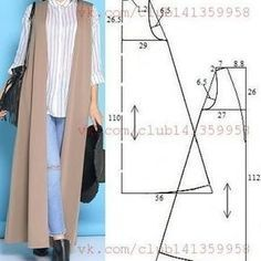 Amazing Sewing Patterns Clone Your Clothes Ideas. Enchanting Sewing Patterns Clone Your Clothes Ideas. Sewing Hacks, Sewing Tutorials, Sewing Projects, Dress Tutorials, Diy Clothing, Sewing Clothes, Sewing Coat, Dress Sewing Patterns, Clothing Patterns