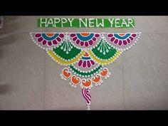 Happy New Year 2019 Dotted and Freehand Rangoli Designs, Kolam Designs and Muggulu Designs 2019 Free Hand Rangoli Design, Small Rangoli Design, Rangoli Designs Images, Rangoli Designs With Dots, Rangoli Designs Diwali, Beautiful Rangoli Designs, Kolam Rangoli, Henna Designs, Rangoli Patterns