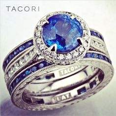 Calling all September birthday Tacori girls - we have something blue for you! #tacorituesday #somethingblue #love #tacori