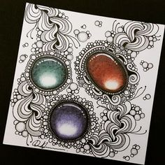 Zen tangle gems