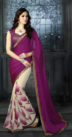 Go Gorgeous with New Purple Lace Work Party Wear #Saree . Grab this beautiful designer sarees before stock ends. Buy Now – http://www.ethnicstation.com/sarees/party-wear-sarees   #PartyWearSaree   #DesignerPartyWearSaree   #DesignerSaree