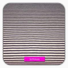 Baumwoll Jerseystoff, Ringeljersey, schwarz weiss, 50 cm von InVotum auf Etsy