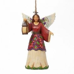 Jim Shore Angle with Lantern Hanging Ornament