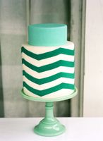 Emerald wedding cake