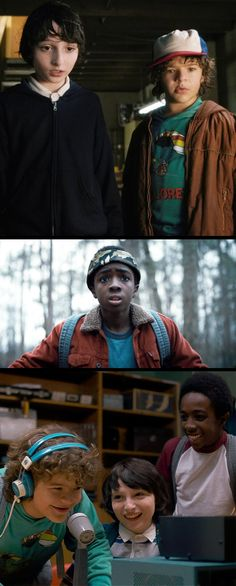 Mike, Dustin, and Lucas from 'Stranger Things' (2016). Costume Design by Malgosia Turzanska and  Kimberly Adams-Galligan.
