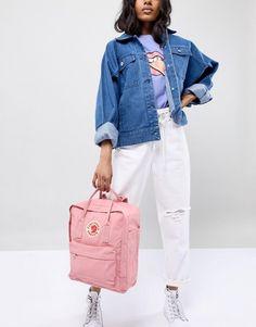 Buy Fjallraven Classic Kanken Backpack In Pastel Pink at ASOS. Get the latest trends with ASOS now. Mochila Kanken, Pink Kanken, Fashion Poses, Fashion Outfits, Fall Outfits, Cute Outfits, Backpack Outfit, Rose Pastel, Pastel Outfit