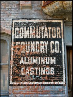 Commutator Foundry Co. Ghost Sign. Minneapolis