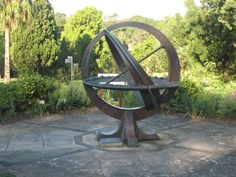 Armillary/sundial in the Royal Botanical Gardens, Sydney, Australia