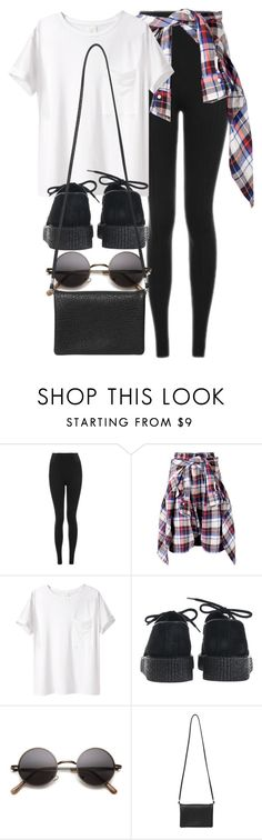 """Sin título #11938"" by vany-alvarado ❤ liked on Polyvore featuring Topshop, R13, AR SRPLS, Underground and Monki"