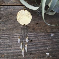 Full Moon Necklace. Handmade by www.rustic-souls.com