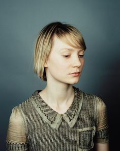 Mia Wasikowska for TIME, 2011  Love the color palette.