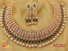 Diamond necklace jewellery available at Ankh Jewels for booking msg on Real Diamond Necklace, Diamond Jewelry, Gold Jewelry, Cz Jewellery, Pearl Necklace, Drop Earrings, Modern Jewelry, Indian Jewelry, Costume Jewelry