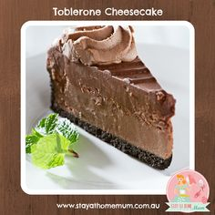 Toblerone Cheesecake | Stay at Home Mum