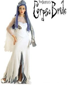 Adult The Corpse Bride Costume Dress and Veil