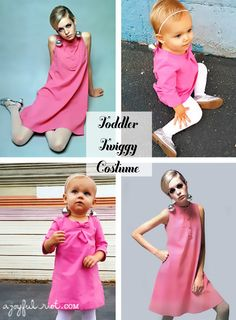 Toddler Twiggy costume, perfect for your little ones with a baby amount of hair ajoyfulriot.com @ajoyfulriot
