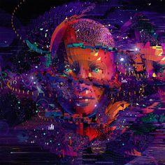 "Digital illustration/Key Visual ""The Data-Driven Face"" for AdobeMarketing Cloud."