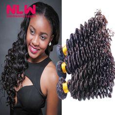 106.00$  Watch now  - N.L.W Hair products for Black Women Cheap Brazilian Virgin Hair 4 Bundles Deep Wave Hair Weaving Free Shipping Fashion n Beauty