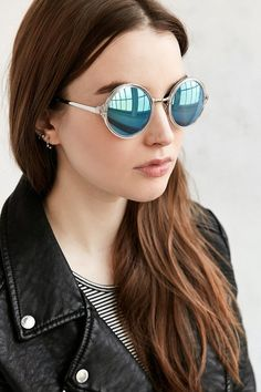 Both Worlds Round Sunglasses - $18.00