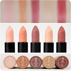 our five longlasting lipsticks in beautiful nude shades suit absolutely every girl :-) which one is your favorite? emojiemoji #essence #cosmetics #makeup #beauty #ilovenude #longlastinglipstick #lipstick #lipstick #lips #nudelips
