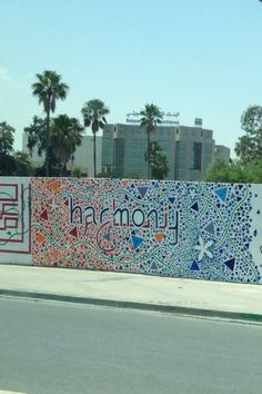 Lovely wall in Tunis city