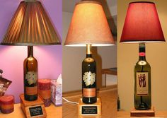 Best Out Of Waste | 7 Craft Ideas Using Waste Wine Bottles and Other Glass Bottles | http://bestoutofwaste.org