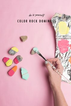 Color rock dominoes - The House That Lars Built