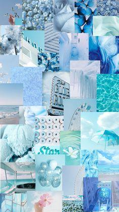 light blue collage