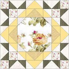 Image result for large floral focus block quilt