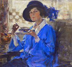 N. Fenshin. Tea in Santa Monica (Portrait of Mrs. Krag)