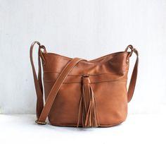 Pogo Bag in Caramel / Leather Bucket Bag / Leather Bag by morelle