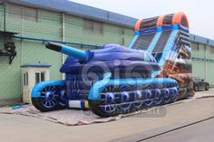 https://flic.kr/s/aHskcwHdNt | Tank War Inflatable Slide | This slide with Tank war theme , it can be the best choice for some film use or eductional activities .This giant tank-shaped inflatable is tons of fun for the kids to slide down again and again. QIQI Dry/Water Slide is a spectacular way to combine fun and healthy activity, and will add value to any Party Rental or carnival event. With a plenty of colors, shapes and themes, our wet and dry slides offer all ages endless amounts of…