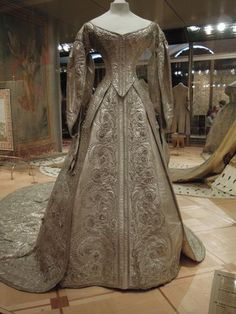 Ghosts of Imperial Russia — Ceremonial coronation dress of silver ...