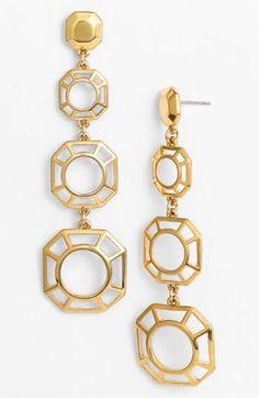 Tory Burch 'Audrina' Linear Earrings Gold