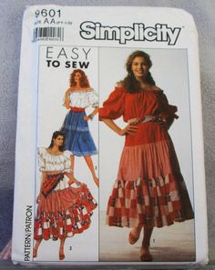1990 Uncut Easy to Sew  Simplicity Pattern by lovelylovepatterns, $4.25
