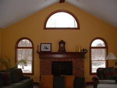 family room additions pictures | Family room into a great room with a vaulted ceiling - project by ...