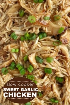 Slow Cooker Sweet Garlic Chicken Slow Cooker Recipes, Cooking Recipes, Slow Cooking, Crockpot Recipes, Crockpot Dishes, Skinless Chicken Recipe, Sweet Garlic Chicken, Asian Chicken Recipes, Garlic Sauce