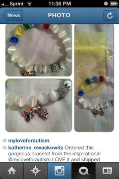 "Thanks for the Love an Support @katherine_ewaskowitz I'm glad u love your Autism Awareness Bracelet❤ ""Together WE can Make a Difference""  www.MyLoveForAutism.com  #MyLoveForAutism❤ @MyLoveForAutismBoutique"