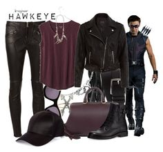 Hawkeye (Captain America: Civil War) by claucrasoda on Polyvore featuring polyvore fashion style Madewell New Look Givenchy Lanvin CÉLINE Gioelli Designs BERRICLE Workhorse AllSaints River Island Hermès STELLA McCARTNEY clothing civilwar TeamCap