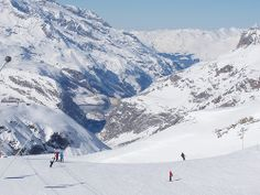 Tignes & Val d'Isere - This region is huge. Fly in, hop on a train, ski, drink, ski and sleep when you get home.