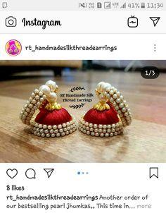 Silk Thread Earrings, Thread Jewellery, Handmade Jewelry, Jewelry Making, Classy, Jewels, Handmade Jewellery, Chic, Jewerly