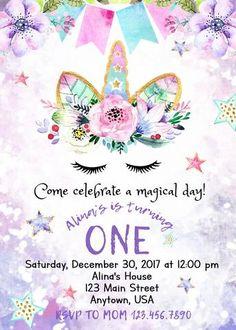 Fill in birthday party invitations printable rainbows and unicorns unicorn invitation filmwisefo