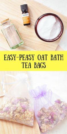 Easy-Peasy Oat Bath Tea Bags