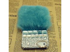 #Crystal #Fluffy iPhone 5/5S Case (Mini #Green)