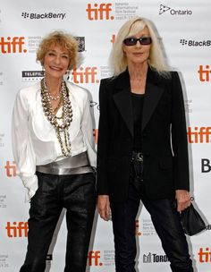 The forever elegant Loulou de La Falaise and Betty Catroux at the Toronto premiere of L'Amour Fou documentary about YSL Ysl, Yves Saint Laurent, Betty Catroux, Christian Dior, Advanced Style, Gloria Vanderbilt, French Chic, Lookbook, Fashion Models