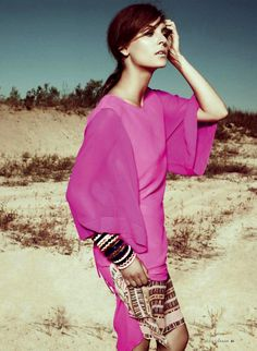 Elyse Saunders by Jean-Claude Lussier for Elle Canada January 2013 | Fashnberry.com