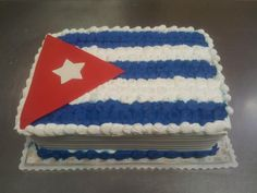 Cuban Flag Birthday Cake by Roly's Bakery